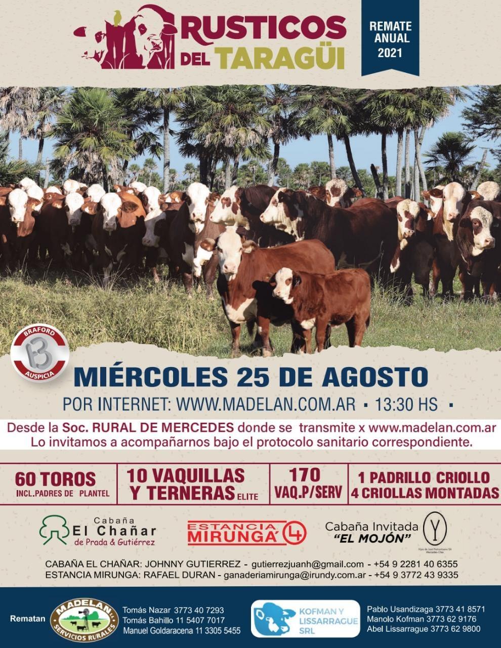 Flyer Rústicos del Taragüi 2021