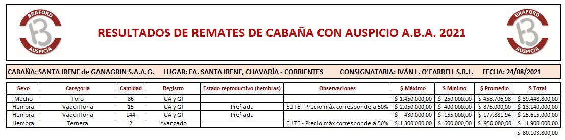 Cabaña Santa Irene 24.8